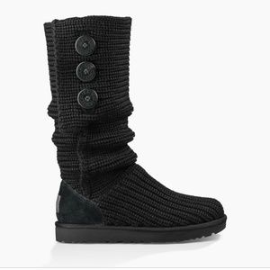 Black sweater UGG boots
